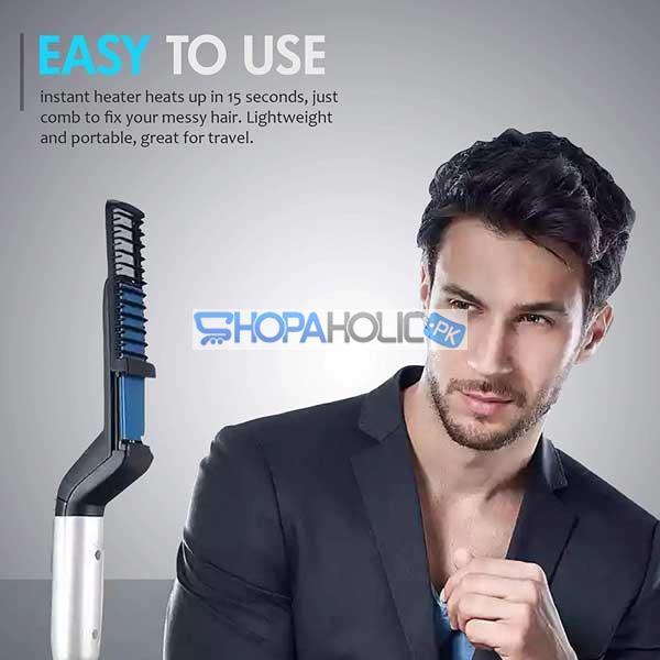 Hair and Beard Straightener Brush