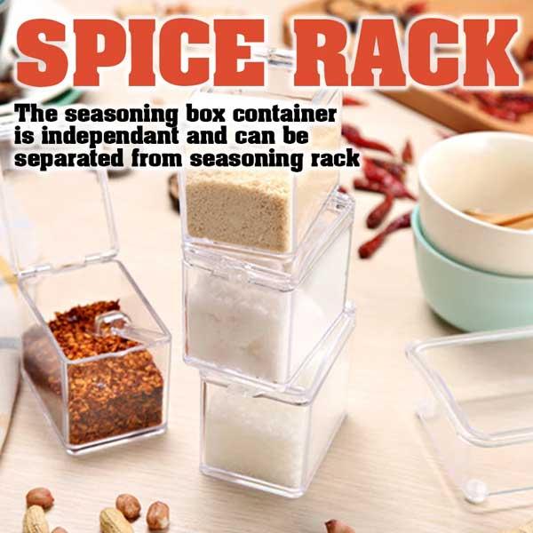 Crystal Seasoning Rack Spice Pots (4 Pieces)