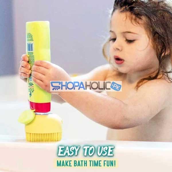 Silicone Massage Bath Brush Liquid Mini Soap Dispenser