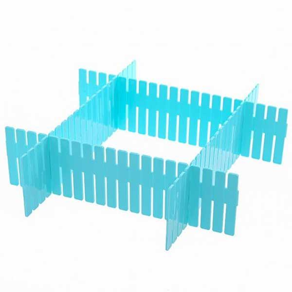 4 Pcs (One Dollar Deal) Plastic Adjustable Drawer Small Storage Organizer (Size: 24.8 x 7 cm)