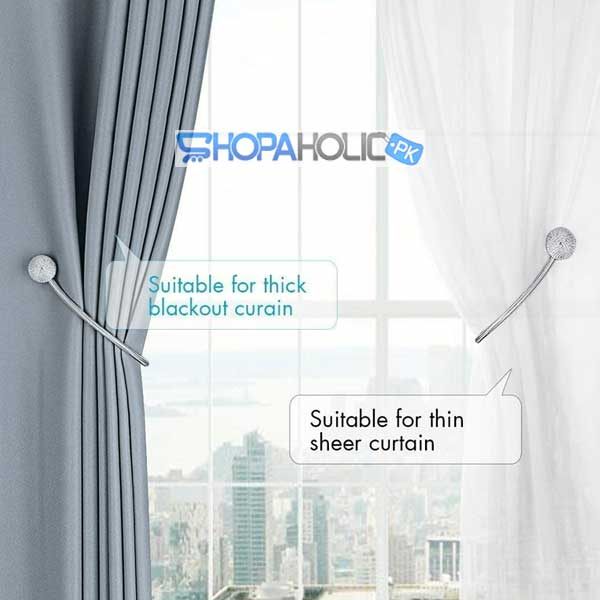 (Pack of 2) Curtain Magnet Tie Rope