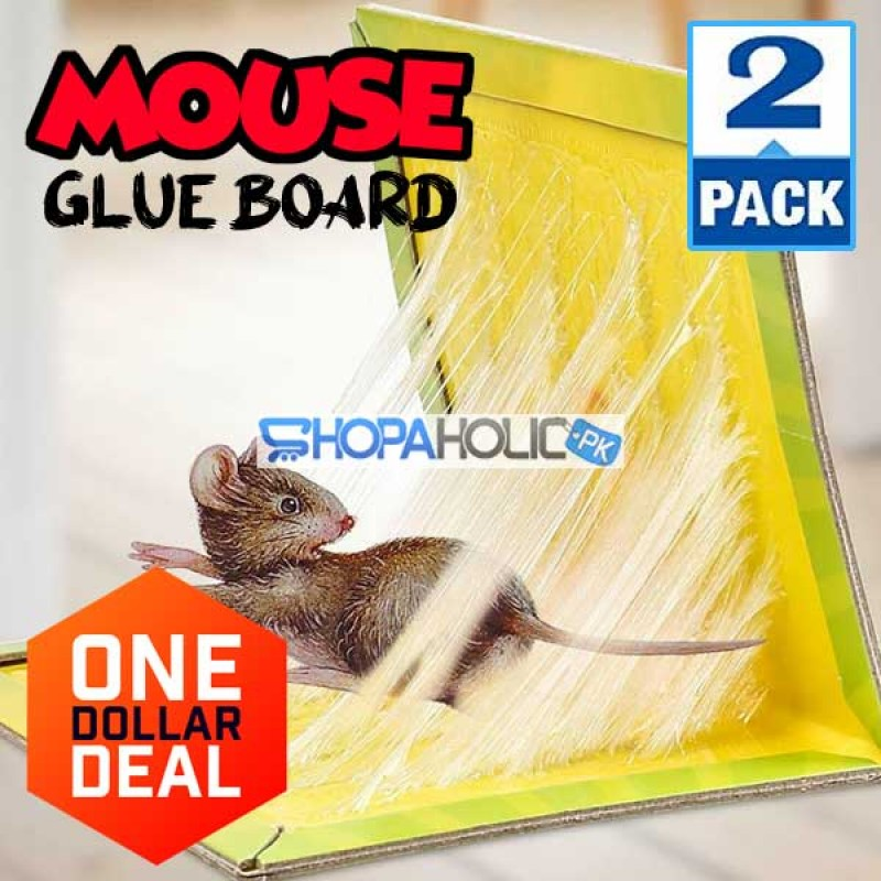 Pack of 2 (One Dollar Deal) Mouse & Rat Glue Trap Board