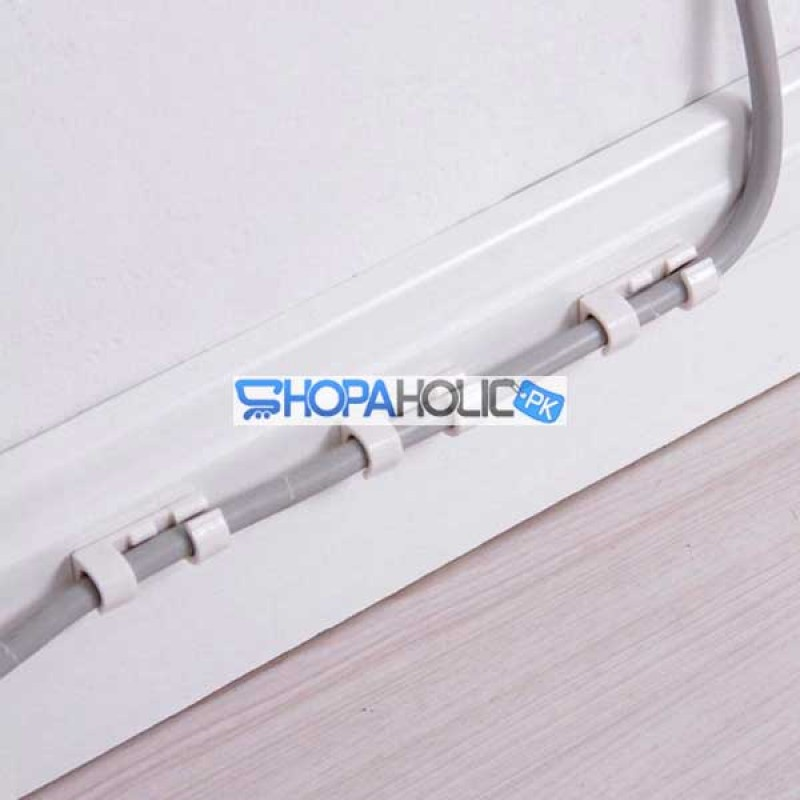 (One Dollar Deal) 20pcs Wire Cord Holder Cable Clips