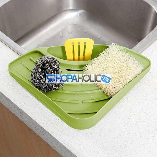 (One Dollar Deal) Sink Corner Storage Rack Sponge Holder