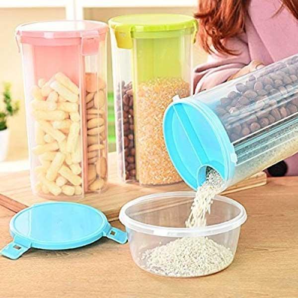 HOMIO 3 Compartment Food Storage Jar