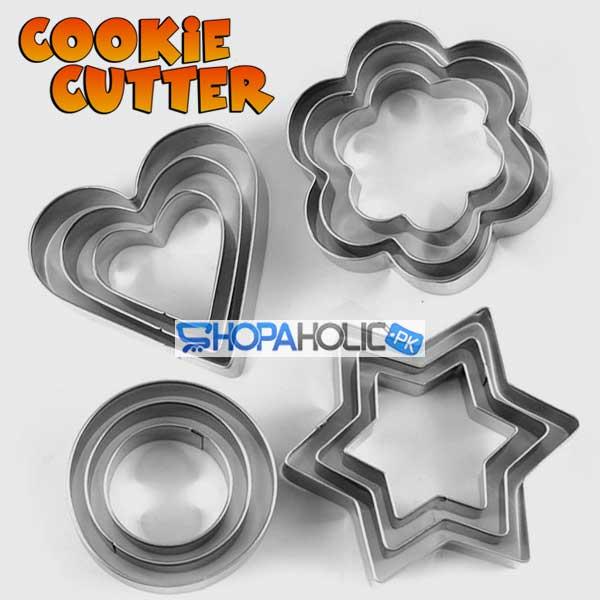 12 Pcs Cookie Cutters Set