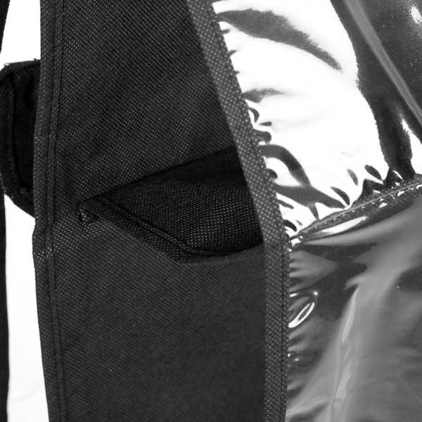 Double Sided Transparent Six Pocket Handbags Storage Organizer (100 GSM + .14mm PVC)