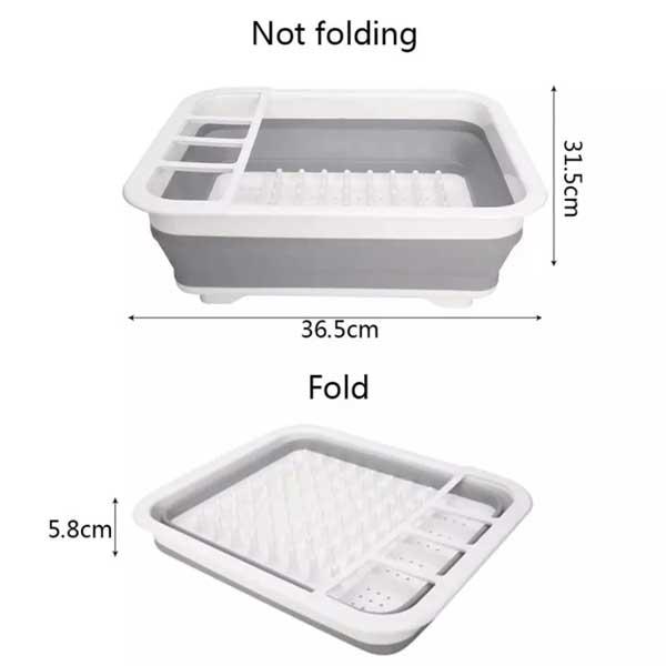 Folding Dish Drainer Rack