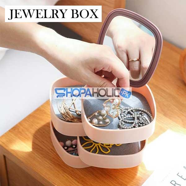 4 Layers Rotatable Jewelry Box Organizer