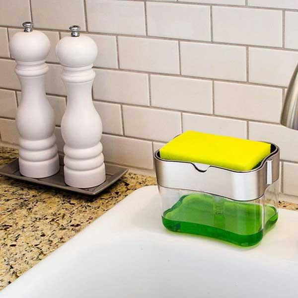 Multi Press Soap Dispenser + Sponge Box