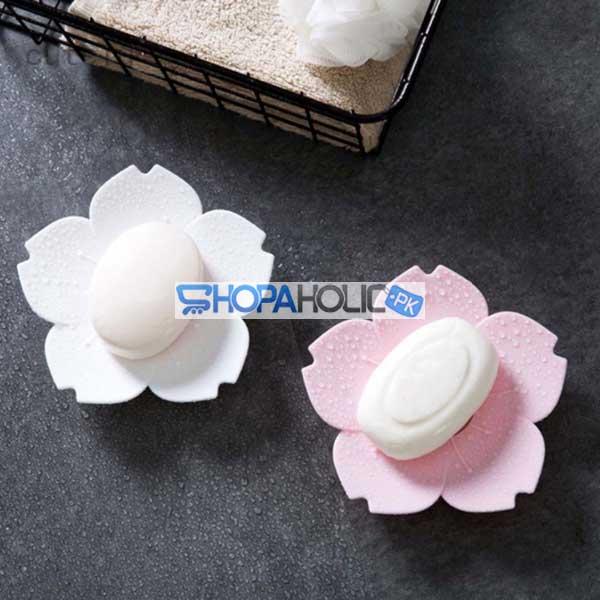 (One Dollar Deal) Sakura Flower Shaped Soap Holder